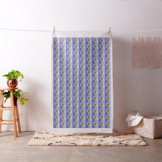 Pekingese on Blue Fabric