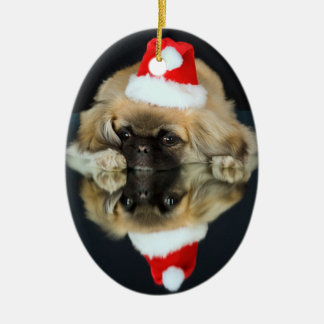 Pekingese Photo Christmas Ornament