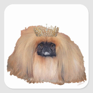 Pekingese Queen (Customize if you Wish!) Square Sticker
