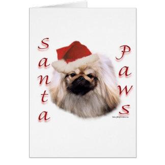 Pekingese Santa Paws Card