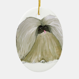 Pekingese, tony fernandes ceramic oval decoration