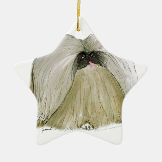 Pekingese, tony fernandes christmas ornament