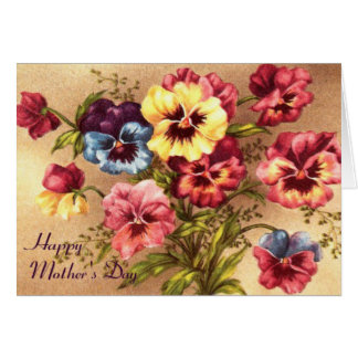 Pelargonium Mother's Day Card