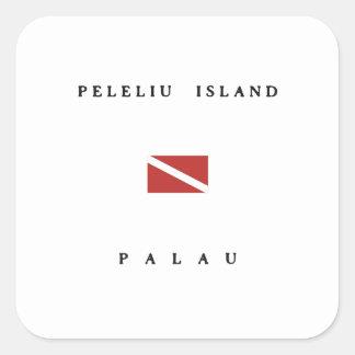 Peleliu Island Palau Scuba Dive Flag Square Sticker