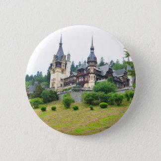 Peles Castle in Sinaia, Romania 6 Cm Round Badge
