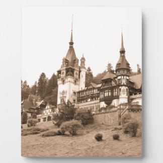 Peles Castle in Sinaia, Romania Display Plaque