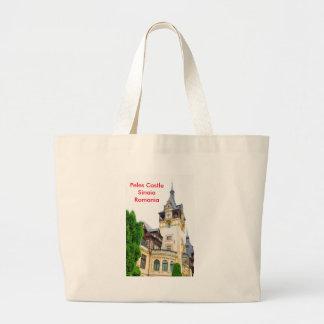 Peles Castle in Sinaia, Romania Large Tote Bag