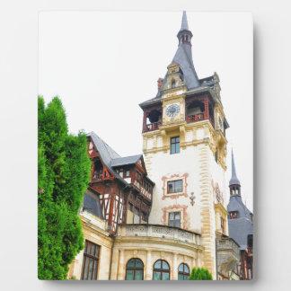 Peles Castle in Sinaia, Romania Plaque