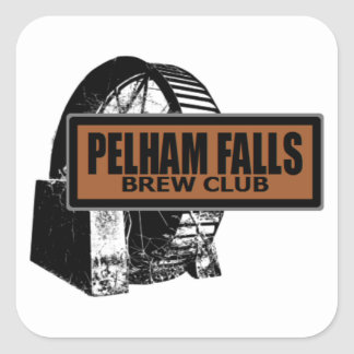 Pelham Falls Brew Club Square Sticker