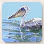 Pelican Art Cork Coaster