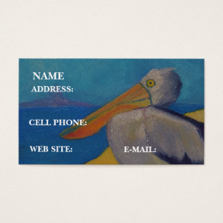 """PELICAN At The Beach,"" - Business Card"