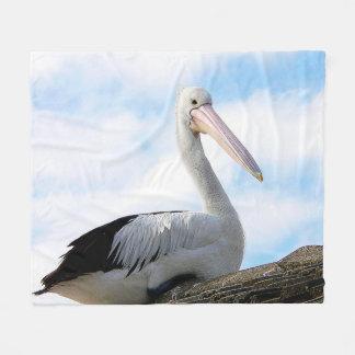 Pelican Bird Fleece Blanket