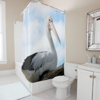 Pelican Bird on Shower Curtain