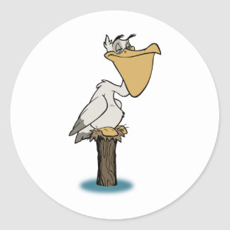 Pelican - Bird Rescue Classic Round Sticker