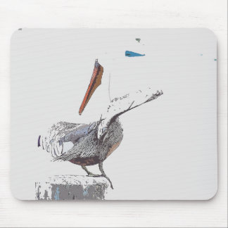 Pelican Birds Wildlife Animals Mouse Mat