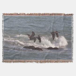 Pelican Birds Wildlife Animals Throw Blanket