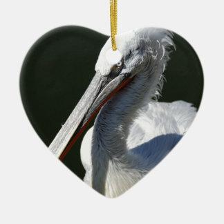Pelican Ceramic Heart Decoration