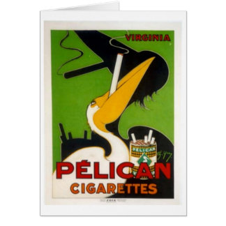 Pelican Cigarettes Greeting Cards