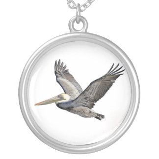 Pelican Clear Round Pendant Necklace