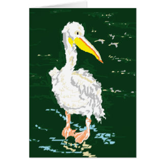 Pelican Enjoying Alone Time Card