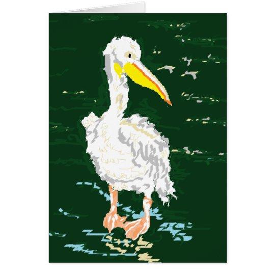 Pelican Enjoying Alone Time Card