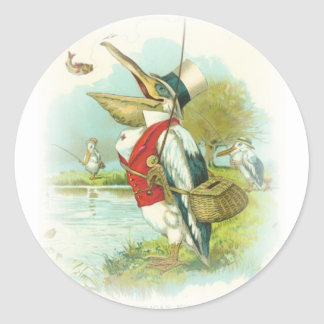 Pelican Fishing Classic Round Sticker