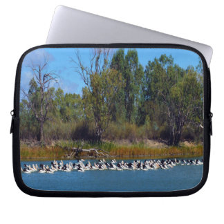 Pelican_Fishing_Frenzy,_10_Inch_Laptop_Sleeve Laptop Sleeve