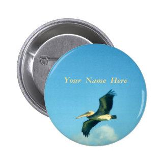Pelican Flight 6 Cm Round Badge