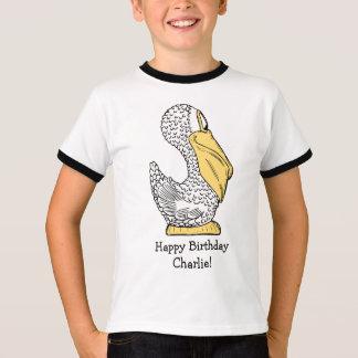 Pelican illustration custom text clothing T-Shirt