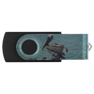 Pelican in Aruba Swivel USB 2.0 Flash Drive