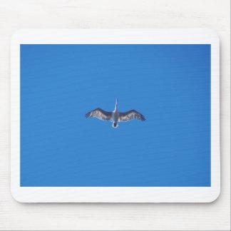Pelican In Flight Mouse Mat