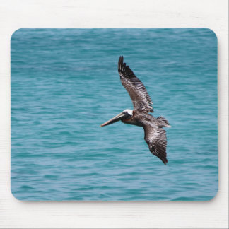 Pelican in flight mousepads