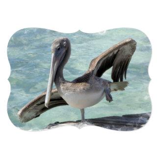 Pelican 5x7 Paper Invitation Card