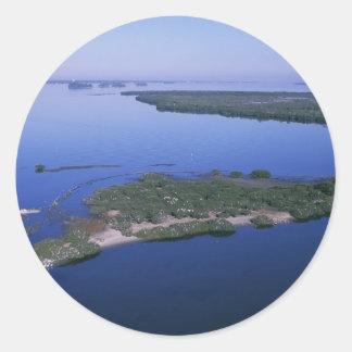 Pelican Island Round Sticker