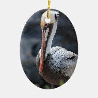 pelican.jpg ceramic oval decoration