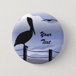Pelican Ocean Shoreline Button