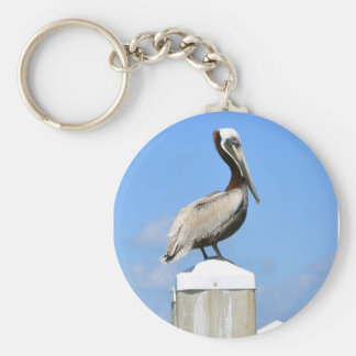 Pelican on Perch Keychains