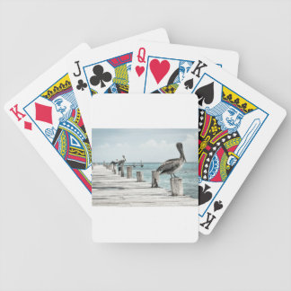 Pelican on Pier Bicycle Playing Cards