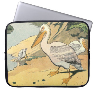 Pelican on the Beach Laptop Sleeve