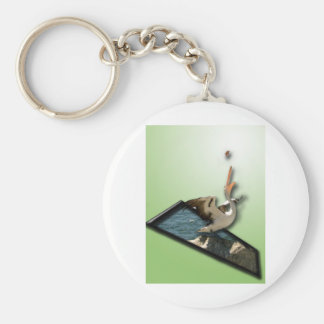 Pelican OOB Basic Round Button Key Ring