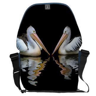 PELICAN PAIR (Australian pelican) ~ Courier Bag