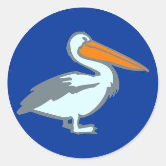 Pelican pelican round sticker