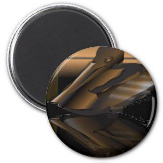 Pelican Peligro 6 Cm Round Magnet