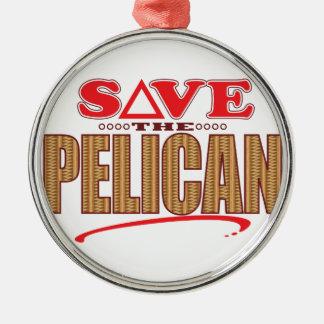 Pelican Save Christmas Ornament