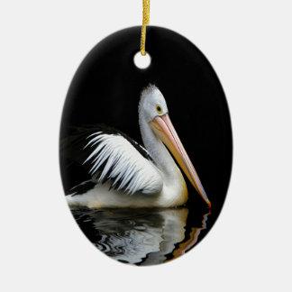 pelican sea birds enjoy peace in dark christmas ornaments
