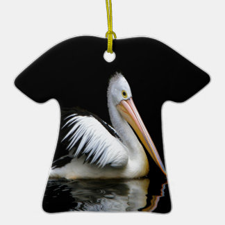 pelican sea birds enjoy peace in dark ornaments