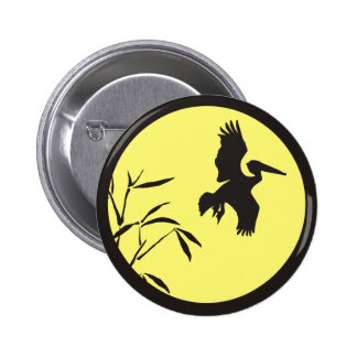 Pelican Silhouette 6 Cm Round Badge