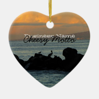 Pelican Silhouette; Promotional Christmas Ornament