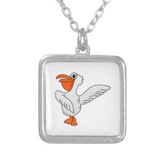 Pelican Square Pendant Necklace