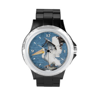 pelican taking off wrist watches